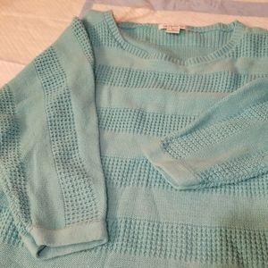 Liz Claiborne teal sweater